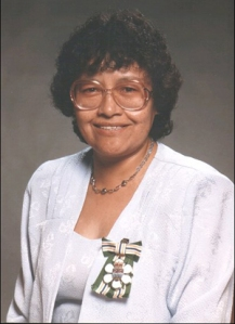 Phyllis Chelsea, wearing the Order of British Columbia. She is one of the heroes of Alkali Lake.
